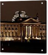 Reichstag At Night Acrylic Print