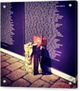 Relica #vietnammemorial Wall In Acrylic Print