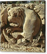 relief of Lion at Tel Beit She'an Acrylic Print