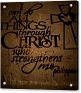 Religious Quote Acrylic Print