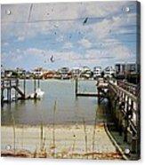 Remembering Wrightsville Beach Acrylic Print by Joan Meyland