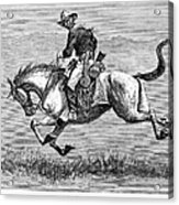 Remington: 10th Cavalry Acrylic Print