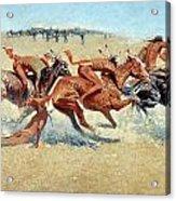 Remington: Indian Warfare Acrylic Print