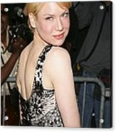 Renee Zellweger Wearing A Carolina Acrylic Print