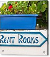 Rent Rooms Sign Acrylic Print