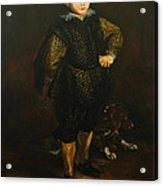 Replica Of Sir Anthony Van Dyck's Filippo Cattaneo Acrylic Print by Tigran Ghulyan