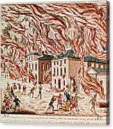 Representation Of The Terrible Fire Of New York Acrylic Print