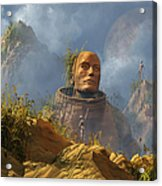 Reptoid Aliens Discover A Statue Acrylic Print