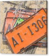 Republica Dominicana License Plates Acrylic Print