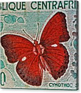 Republique Centrafricaine Butterfly Stamp Acrylic Print
