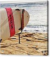 Rescue Surfboard Acrylic Print