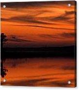 Reservoir Sunset Acrylic Print