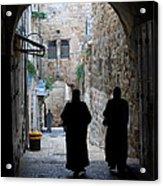 Residents Of Jerusalem Old City Acrylic Print