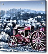 Retired Tractor Acrylic Print by Suni Roveto