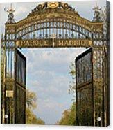 Retiro Park Entrance In Madrid Acrylic Print