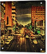Retro College Avenue Acrylic Print