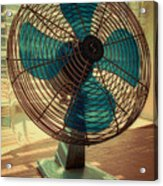 Retro Fan Acrylic Print by Tony Grider