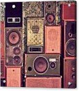 Retro Speakers Acrylic Print