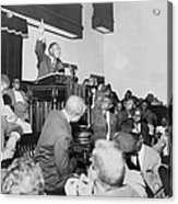 Rev. Martin Luther King, Jr., Speaking Acrylic Print by Everett