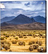 Reverse Mountains And Aeolian Buttes Acrylic Print