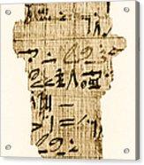 Rhind Papyrus Acrylic Print