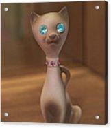 Rhinestone Cat Acrylic Print