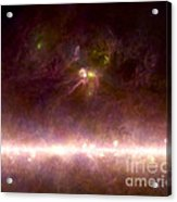 Rho Ophiuchi Nebula And Galactic Center Acrylic Print