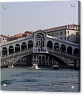 Rialto Bridge Acrylic Print by Keith Stokes