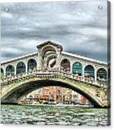 Rialto Bridge Over The Grand Canal Of Venice Acrylic Print