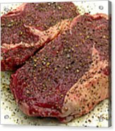Ribeye Steak... Carnivore Eye Candy Acrylic Print by James Temple