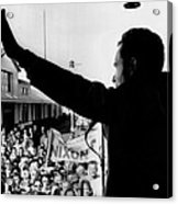 Richard Nixon Campaigning For Governor Acrylic Print by Everett
