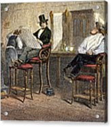 Richmond Barbershop, 1850s Acrylic Print