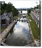 Rideau Canal And Locks - Ottawa Acrylic Print