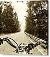 Riders Eye Veiw In Sepia Acrylic Print