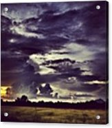 Riders Of The Storm #sky #clouds #drama Acrylic Print