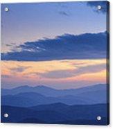 Ridge After Ridge Acrylic Print