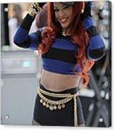 Rihanna At Talk Show Appearance For Nbc Acrylic Print by Everett