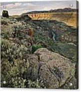 Rio Grande Gorge Above Taos Junction Bridge Acrylic Print