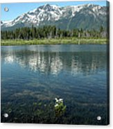 Ripples On Lake Of Mt Tallac Acrylic Print