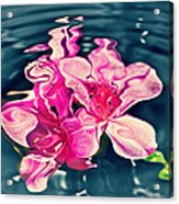 Rippling Flowers Acrylic Print