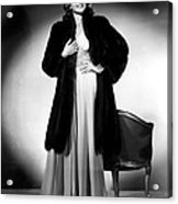 Rita Hayworth, 1940 Acrylic Print by Everett