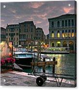 Riva Del Vin. Venezia Acrylic Print