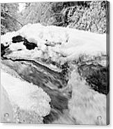 River And Snow II Acrylic Print