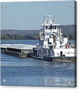River Barge Acrylic Print