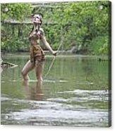 River Indian Acrylic Print