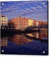 River Liffey And Halfpenny, Bridge Acrylic Print
