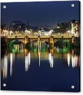 River Liffey At Night, Oconnell Street Acrylic Print
