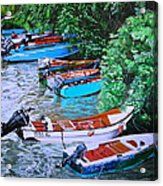 River Rainbow Acrylic Print