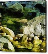 River Rocks 3 Acrylic Print