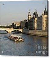 River Seine And Conciergerie. Paris Acrylic Print
